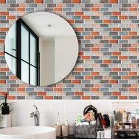 Art3D 30x30 cm 3D Duvar Çıkartmaları Kendinden Yapışkanlı Soyma ve Sopa Backsplash Kiremit Sahte Taş Mozaik Mutfak Banyo, Duvar Kağıtları (10 adet)