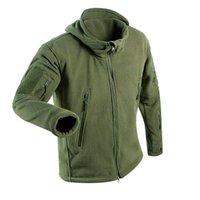 Giacche da uomo Giacche USA UK Fleece Fleece Giacca Tactical Uomo Termico caldo Cappotto con cappuccio All'aperto Pro Softshell Hike Capispalla Esercito
