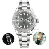 Caijiamin-u1 качество мужские часы яхта стиль 40 мм серебряный циферблат мастер автоматический механический сапфировый стекло классические модели складные наручные часы супер светящиеся