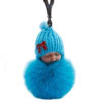 키 체인 잠자는 공 가방 자동차 키 체인 머리 아기 펜던트 선물