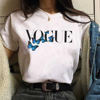 2021 Moda Vogue Princess Tshirt Mujeres Harajuku Tee Streetwear T-shir Mujer Kawaii Ropa Aesthetic Girls Shirt Y2K X0527