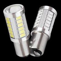 Lumières de secours 1157 P21 / 5W Bay15D Super Bright 33 SMD 5630 5730 LED Auto frein de frein Lampe de brouillard 21 / 5W Daytime de la journée d'arrêt de la lumière de la lumière 12V
