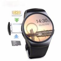 Slimy KW18 Bluetooth Smartwatch-Telefon-Herzfrequenz-Monitor Smart Watch für iPhone Samsung Android-Schrittzähler Gesundheit Full Runde