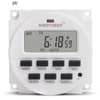 TM618SH Intervalo Fuente de alimentación de 7 días Semanal Programable Iluminación electrónica digital Daily Timer Switch Temporizador