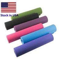 Stock 6mm Spessore US Boam Yoga Mat TPE High Elastico Bambini Danza Danza Fitness Esercizio Gym Workout Attrezzature Casa Gymnastics Pad PAD FY6146