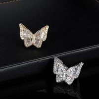Micro zirconi in zirconi anello della farfalla della strada della via della strada esagerata gioielli hiphop hip hop B26b