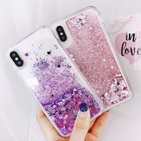 Luxury Heart Stars Glitter Liquid Quicksand Cases Soft TPU Back Cover For iPhone 13 12 11 Pro XR XS Max X 8 Samsung S20 FE S21 Ultra A02S A12 A22 A32 A42 A52 A72 A21S