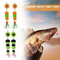 Durable Fishing Lure Classic Delicate 2pcs Jig Swivel Soft Big Eye Swim Insect Bait Wobbler Minnow Float Hooks
