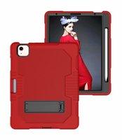 3 em 1 tablet case para ipad 10.2 10.9 11 9.7 Air2 Air4 Mini45 Samsung T290 T500 T220 T225 T307 T510 P610 PC + TPU Portátil Impobre à prova de choque