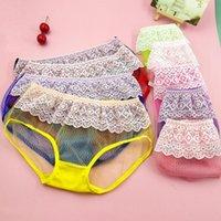 Women's Panties 5pcs Lace Transparents Ladies Sexy Mid-Rise Women Underwear Color Lingerie Fashion Sports Female Underpantes