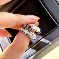 HBP Fortune Anello da donna 925 argento di lusso di lusso piccolo gruppo squisito perline di trasferimento di moda personalità può trasformare la coppia