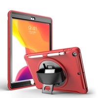 360° Rotation Kickstand Hand Strap Tablet Cases for iPad 10.2 [7th 8th Generation] Mini 5 4 Air 3 2 1 Pro 11 10.5 9.7 inch Samsung Galaxy Tab T220 T500 Shockproof Protection Case