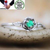 Cluster Rings OMHXZJ Wholesale European Fashion Woman Girl Party Wedding Gift Rose 7 Colors Zircon Taiyin Ring RR334