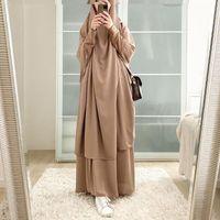 Ethnic Clothing Abayas For Women Dubai Abaya Turkey Muslim Hijab Dress Prayer Clothoes Islam Caftan Kaftan Robe Khimar Jilbab Niqab 2021