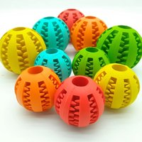 Pet Rubber Leaking Food Ball Dog Cat Chew Toy Interactive Elasticity Watermelon Bite Resistant DogS Teeth Clean Play BallS 7 CM WLL930