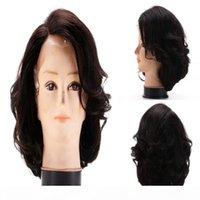 8A Bob Bob Human Hair Dentelle Perruque avant Vierge Vierge Brésilienne Wavy Wavy Dentelle Perruques avec cheveux de bébé Couleur naturelle 130% Densité