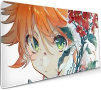 Mouse Pads & Wrist Rests Anime The Promised Neverland Large Gaming Computer Pad Extended Non-Slip Rubber Base Stitched Edges Office Desk Mat