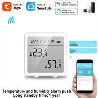 Smart Home Control TUYA WiFi LCD Temperature & Humidity Sensor For Alexa Google Assistant Ultra-low Power Consumption