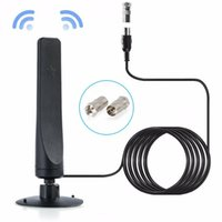 Antena de TV Digital Indoor 200 Miles Range HD 1080p Signal Booster Amplificador HDTV Antena DVB-T2