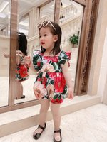 2021 high quality summer baby girl rompers princess one-piece jumpsuits with box clothing cotton short romper infant clothes