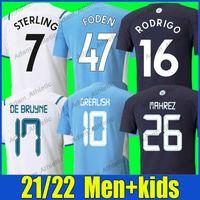 Ciity Grealish Soccer Jerseys Palyer Version المواطنون Foden Sterling De Bruyne Football Shirts Bernardo G.Jesus Rodrigo Mahrez Jersey Ferran Gundogan Man Kids 21/22