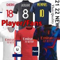 Fan Player versione 20 21 22 Maillot Lione 4 ° 2021 2022 Olympique Lyonnais Soccer Jersey OL Digital Quarto calcio Camicie Traore Memphis Attrezzature Bruno G