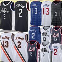 2 Kawhi 2021 Leonard Jersey Mens Paul 13 George Basketball Jerseys Los Blue Black White Angeles Bordado Logos de Alta Qualidade