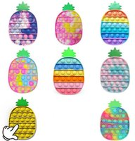 Fidget decompression toys stress relief toy flip jigsaw by pressing finger rainbow camouflage pineapple