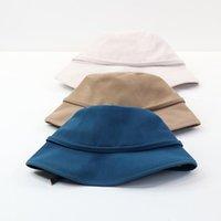 202103-Xiyuan Весенний Корейский Стиль Досуг Может быть использован Lady Bucket Cap Женщины Рыбаки Шляп Широкие Breim Hats