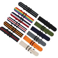 Watch Bands 18mm 24mm 22mm 20mm Nylon Sport Replacement Strap Band For Samsung Galaxy Gear S3 S2 Watchband Men Bracelet Ring Buckle
