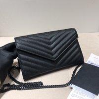 أزياء المرأة مصممي المصممين حقائب جلدية حقيقية حقائب اليد رسول crossbody سلسلة الكتف حقيبة اليد محفظة + مربع