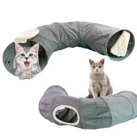 Foldable Pet Cat Tunnel Kitten Puppy Training Play Toy Exercise Funny Tube Round Bed Pad Indoor Outdoor #3O29 Toys