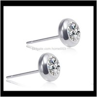Drop Delivery 2021 Stainless Steel Diamond Women Earrings Mens Earings Stud Ear Rings Jewelry Will And Sandy Gift Ps1844 Woc8D