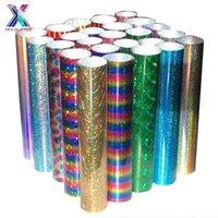 Fensteraufkleber Xinfangxiu HTV Cricut 25x150cm Laserfilm Multicolor Farbe PU Wärmeübertragung Pressemaschine T-shirt Bügeleisen auf