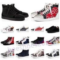 Erkek Rahat Ayakkabılar Kadınlar Açık Kırmızı Dipleri Ayakkabı Çivili Spike Loafer'lar Sneakers Süet Deri Flats Çiftler Ttrainers des Chaussures
