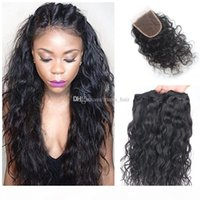 8A Brazilian Wet Wavy Water Wave Hair With Closure 3 Bundles With Closure Brazilian Wet And Wavy Hair With Closure Wavy Human Hair