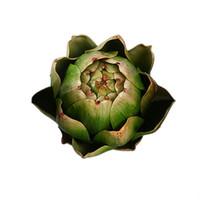 Flores decorativas guirnaldas verduras falsas decoraciones de cocina artificial alcachofa realista plástico salón sala de simulación duradera