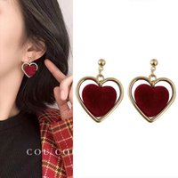 Stud Heart Earrings 2021 Trendy Jewelry Korean Fashion Aesthatic Grunge For Women Earring Wholesale Gift