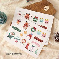 Decorative Cute Hand-painted Sticker Ins Style Baking Gift Box Packaging Bag Creative Accessories Self-adhesive QQLK925