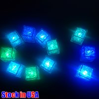 LED Ice Cubes Glowing Party Ball Flash Light Holiday Lighting Luminous Neon Wedding Festival Christmas Bar Wine Glass Decoration Supplies us
