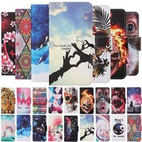Flip Leather Wallet Cases for iphone 12 pro Max mini 11 X XR XS 6 7 8 PLUS Marble cat Flower Butterfly skull love heart Holder cover