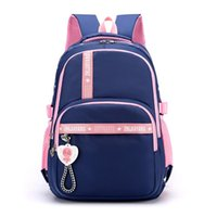 Primary Student School Bags For Girls Cute Backpack Child Waterproof Nylon Schoolbag Large Capacity Kids Bookbag 2-6 Grade