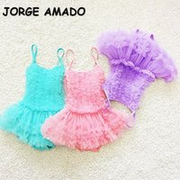 One-Pieces 2021 Korean Style Summer Baby Girls Swimwear Sling Sleeveless Candy Color Tutu Skirt Swimsuit Born Infant Clothes E1506