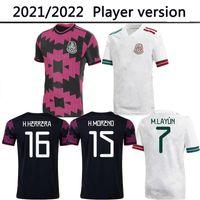 Messico Soccer Jersey Player Version Home Black Purpal Copa America 21 22 Chicharito A. Guardado H. Lozano Herrera Dos Santos 20212022 Camicia da calcio Kit uniformi