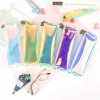 Pencil Cases Trend Case Transparent Mesh Office Student Laser School Supplies Pen Box