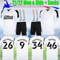 21 22 Derby County Soccer Jersey Rooney 2021 2022 Baningime Men Kit Kit Kit Lawrence Boy Waghorn Maillot de Bielik Top Tailandia Calidad Camisa de Fútbol