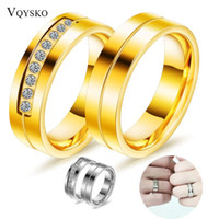 Wedding Rings Fashion Jewelry Couple For Anniversary Engagement Gift Stainless Steel Men Women Ring Set Bridal Puzzle Jewellry