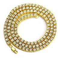 Pendant Necklaces necklace Hip hop men's hip 1 row diamond alloy nelace water drill single ice button tennis Chain Nelace