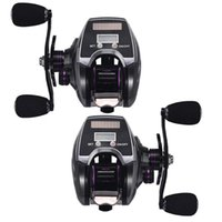 Baitcasting Reels 18+1BB Fishing Reel 8.0 1 Speed Ratio Low Profile Tackle With Digital Display Tool
