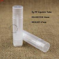 1000 adet / grup Toptan 5G PP Ruj Tüp Plastik Şeffaf Doldurulabilir Şişe Boş Konteynerler Dudak Balsamı Fırça Glass Ambalaj